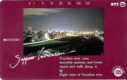 TARJETA DE JAPON DE SAPPORO INVITATION DE 105 UNITS (430-206-1989) - Japón