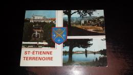 C-36891 SAINT ETIENNE TERRENOIRE PLACE J. JAURES VUE GENERALE BASSIN DE JANON STEMMA ARALDICA - Saint Etienne