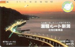 TARJETA DE JAPON DE UN PUENTE DE 105 UNITS (270-141-1989) BRIDGE - Japón