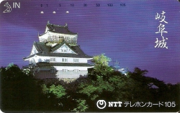 TARJETA DE JAPON DE UN PALACIO DE 105 UNITS (290-351-1989) - Japón