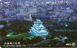 TARJETA DE JAPON DE UN PALACIO DE 105 UNITS (330-177-1989) - Japón