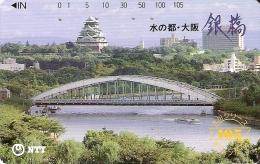 TARJETA DE JAPON DE UN PALACIO Y PUENTES DE 105 UNITS (330-202-1989) BRIDGE - Japón