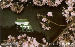 TARJETA DE JAPON DE UN PALACIO Y FLORES DE 105 UNITS (290-397-1990) FLOR-FLOWER - Japón
