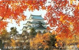 TARJETA DE JAPON DE UN PALACIO EN OTOÑO DE 105 UNITS (290-344-1989) - Japón