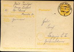 Britische Zone P905 Postkarte Gebraucht Lintfort 1946 - Bizone
