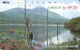 TARJETA DE JAPON DE UNA MONTAÑA Y LAGO  DE 105 UNITS (270-135-1989) MOUNTAIN-LAKE - Japón
