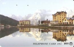 TARJETA DE JAPON DE UNA MONTAÑA Y LAGO DE 105 UNITS (290-400-1990) MOUNTAIN-LAKE - Japón