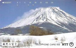 TARJETA DE JAPON DEL MONTE FUJI DE 105 UNITS (290-278-1989) MOUNTAIN-MONTAÑA - Japón