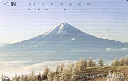 TARJETA DE JAPON DEL MONTE FUJI  DE 105 UNITS (250-286-1989) MOUNTAIN-MONTAÑA - Japón