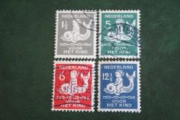 Kinderzegel Child Welfare Enfants Kinder NVPH 225-228 (Mi 229-232) 1929 Gestempeld / USED NEDERLAND / NIEDERLANDE - 1891-1948 (Wilhelmine)