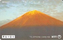 TARJETA DE JAPON DEL MONTE FUJI DE 105 UNITS (290-277-1989) MOUNTAIN-MONTAÑA - Japón