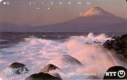 TARJETA DE JAPON DEL MONTE FUJI DE 105 UNITS (290-313-1989) MOUNTAIN-MONTAÑA - Japón