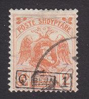 Albania, Scott #154, Used, Skanderbeg And Double Headed Eagle Surcharged, Issued 1922 - Albania