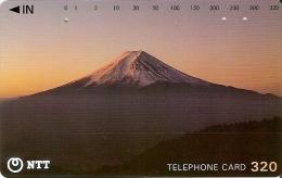 TARJETA DE JAPON DEL MONTE FUJI DE 320 UNITS (250-226-1989) MOUNTAIN-MONTAÑA - Japón