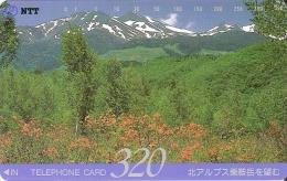 TARJETA DE JAPON DE UNAS MONTAÑAS DE 320 UNITS (290-180-1988) MOUNTAIN-MONTAÑA - Japón