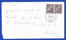 ENVELOPPE - AVIS / LISBOA -- CACHET PARFAIT - AVIS, 15.JUL.65 - 1910-... República