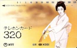 TARJETA DE JAPON DE UNA GEISHA DE 320 UNITS (110-016) MUJER-WOMAN - Japón