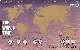 TARJETA DE JAPON DE THE WORLD TIME DE 540 UNITS (290-357-1989) - Japón