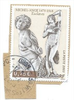 """France, Francia; Michelangelo, Michel Ange : Les Esclaves """" ; 2003 . Oblitéré - Scultura"""