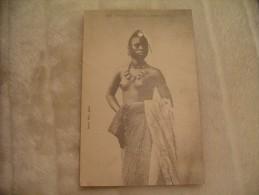 Cpa Sénégal Guinée Jeune Foulah Seins Nus  Femme Nue Nude. - Sénégal