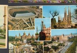 Barcelona Soccer Estadio Del Barca Camp Nou Tarjeta Postal Vintage Original Postcard Cpa Ak (W4_1104) - Estadios