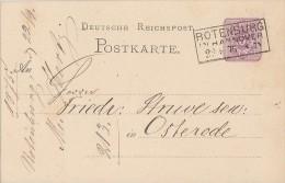 DR Ganzsache R3 Rotenburg In Hannover 22.9.75 - Deutschland