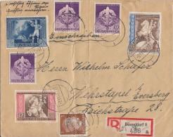 DR R-Brief Mif Minr.782,3x 818,820-822 Düsseldorf 2.11.42 - Deutschland