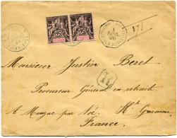 REUNION LETTRE RECOMMANDEE DEPART SAINT-PAUL 31 MARS 96 REUNION POUR LA FRANCE - Réunion (1852-1975)
