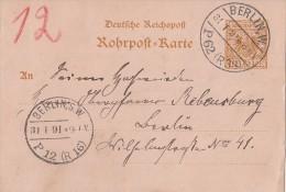 DR Rohrpostkarte Minr.RP8 Berlin 31.1.91 - Deutschland
