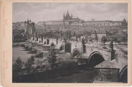 CDV Foto ? Kabinettfoto ? Hartpappe Prag Praha Karlsbrücke Kleinseite Karluv Most Mala Strana Tschechien Böhmen Ceska - Fotos