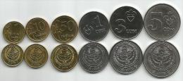 KYRGYZSTAN 6 COINS  UNC  2008. SET WITH RARE 1 TIYIN COIN - Kyrgyzstan