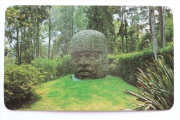 THE STONE HEAD FROM OLMEC CULTURE, MEXICO