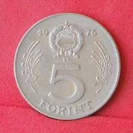 HUNGARY  5  FORINT  1976   KM# 594  -    (Nº11743) - Hungary