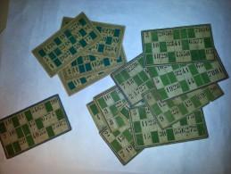 Pour Collectionneur, Vieux Cartons De Loto, 10 D'une Série Et 4 D'un Autre Jeu - Jeux De Société