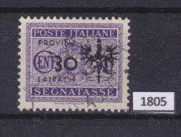 LAIBACH 1944, WW II German Occupation; Mi: 5; USED; Italian Overprints Provinz  Laibach, Ljubljanska Pokrajina - Occupazione 1938 – 45