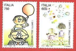 ITALIA REPUBBLICA MNH - 1991 - Convenzione Sui Diritti Dell'infanzia - £ 600 - 750 - S. 1968 1969 - 6. 1946-.. Repubblica