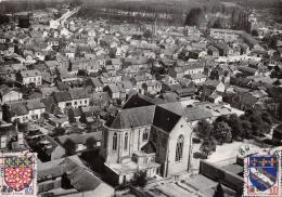 "CPSM FRANCE 10 AUBE(ROMILLY SUR SEINE)""Vue Aérienne L'église"" - Romilly-sur-Seine"