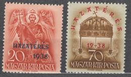 Hungary 1938 Mi#591-592 Mint Hinged
