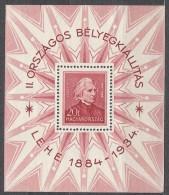 Hungary 1934 Mi#Block 1 Mint Hinged