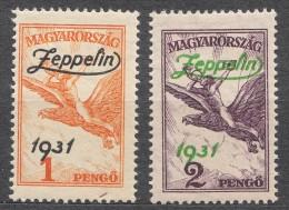 Hungary 1931 Zeppelin Mi#478-479 Mint Hinged