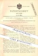 Original Patent - Jacob Hahn In Ingolstadt & Johann V. Recum In Landshut , 1900 , Kupplung Für Eisenbahnen , Lokomotiven - Historische Dokumente