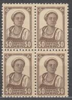 Russia SSSR 1939 Mi#683 I A Mint Hinged Block Of Four