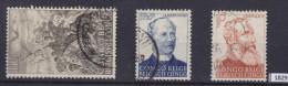 BELGIAN CONGO 1947; Mi: 260 - 262; USED; 50th anniv. of the abolition of slavery, Slaves, Lambermont, Leopold II