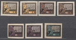 Russia 1922 Mi#195-197 X And 199 X, Some Colour Shades, Mint Hinged