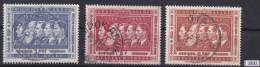 BELGIAN CONGO 1958; Mi: 338, 339, 341; USED; 50th Anniv Of Belgium's Annexation Of Congo, Kings Of Belgium - Congo Belga