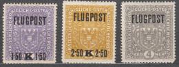 Austria 1918 Mi#225-227 mint hinged