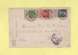 Belgique - Bruges - 1905 - Carte Avec Affranchissement Tricolor Pour La France - 1905 Barbas Largas