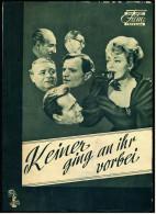 """Das Neue Film-Programm Von Ca. 1956  -  """"Keiner Ging An Ihr Vorbei""""  -  Mit Arlene Dahl , Phil Carey - Magazines"""