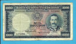 MOZAMBIQUE - 1000 ESCUDOS - 31.07.1953 - P 105 - 7 Digits -  MOUSINHO DE ALBUQUERQUE - Portugal - Mozambique