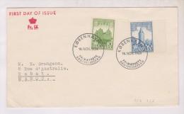 ENVELOPPE PREMIER JOUR DANEMARK AVEC 2 TIMBRES En 1954!! - Lettres & Documents